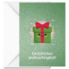 Personalisierbare Weihnachtskarte WEIHNACHTSGLÜCK!