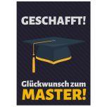 Minicard GLÜCKWUNSCH ZUM MASTER!