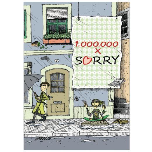 Postkarte 1.000.000 x SORRY!
