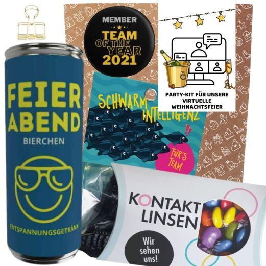 Geschenkset PARTY-KIT FÜR VIRTUELLE WEIHNACHTSFEIER # 1