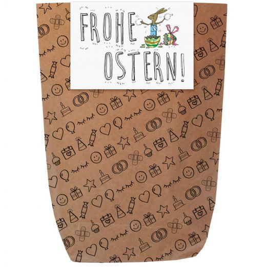 Geschenktüte FROHE OSTERN - zum Befüllen
