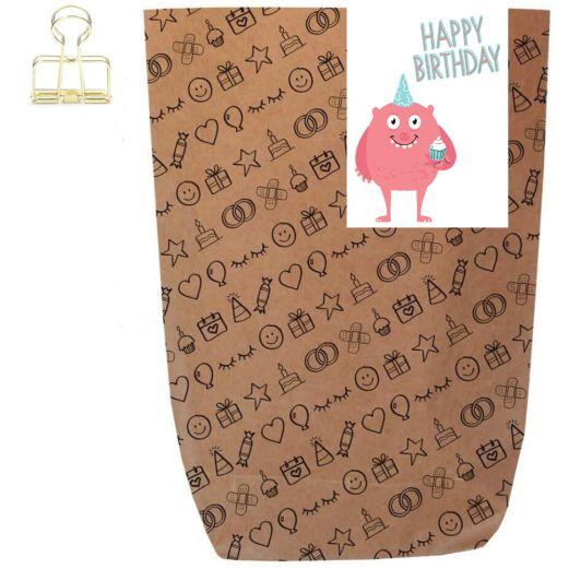 Geschenktüte HAPPY BIRTHDAY MONSTER - zum Befüllen