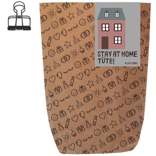 Geschenktüte STAY AT HOME! - zum Befüllen