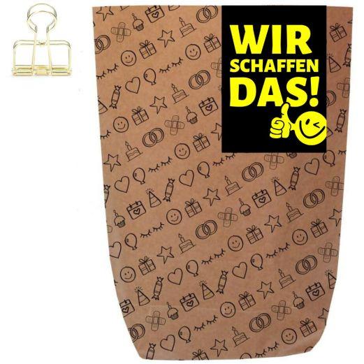 Geschenktüte WIR SCHAFFEN DAS! - zum Befüllen