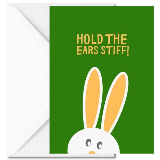Personalisierbare Grußkarte HOLD THE EARS STIFF!