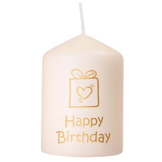 Kerze HAPPY BIRTHDAY - PAKET gold