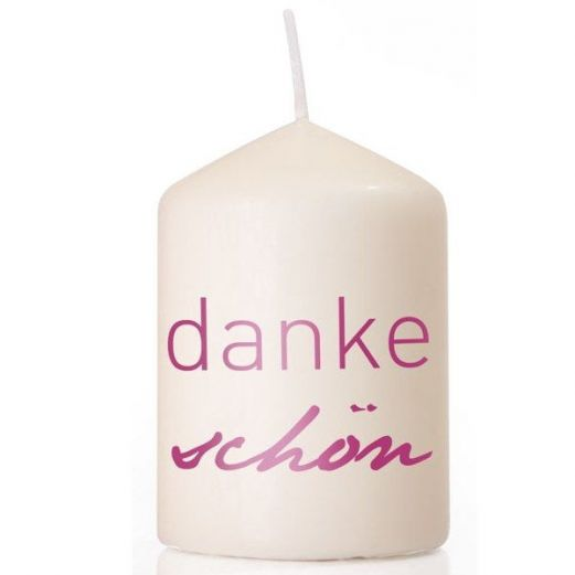 Kerze DANKE SCHÖN - pink
