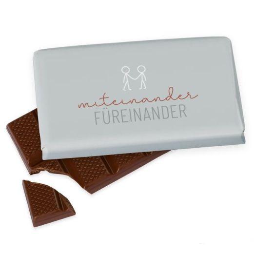 Kleine Schokolade 40g MITEINANDER FÜREINANDER