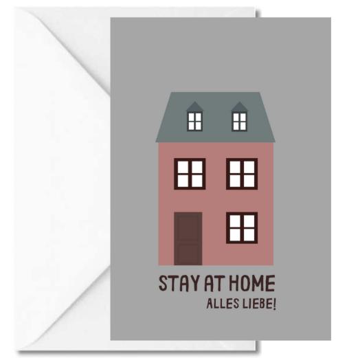Personalisierbare Grußkarte STAY AT HOME