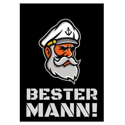 Minicard BESTER MANN! - Motiv Captain