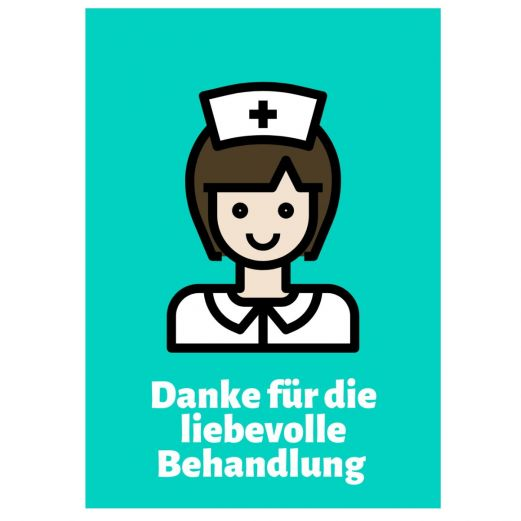 Minicard DANKE FÜR DIE LIEBEVOLLE BEHANDLUNG!