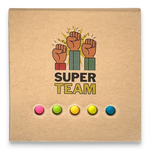 Notizzettelbox SUPER TEAM