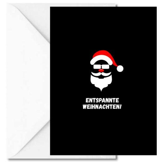 Personalisierbare Weihnachtskarte ENTSPANNTE WEIHNACHTEN!