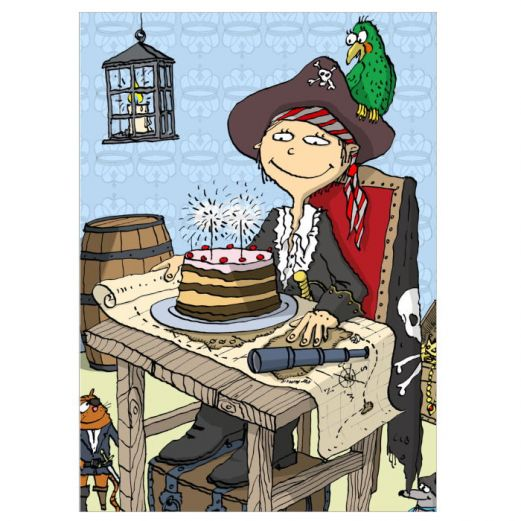 Postkarte PIRATE BIRTHDAY