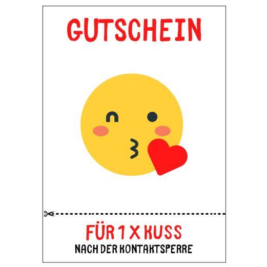 Postkarte GUTSCHEIN  1 x KUSS