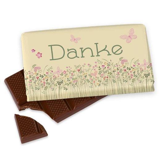 Kleine Schokolade 40g DANKE - Motiv Schmetterling