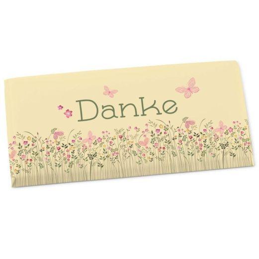 Vollmilchschokolade 100g DANKE - Motiv Schmetterling