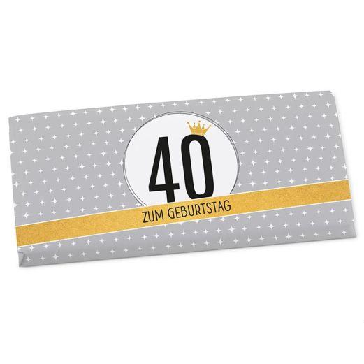 Vollmilchschokolade 100g ZUM 40. GEBURTSTAG